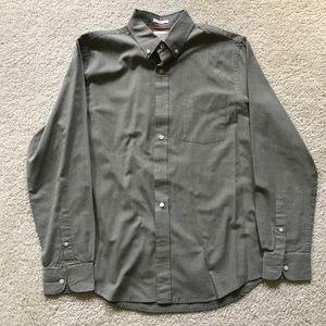 Dockers grey checked dress shirt